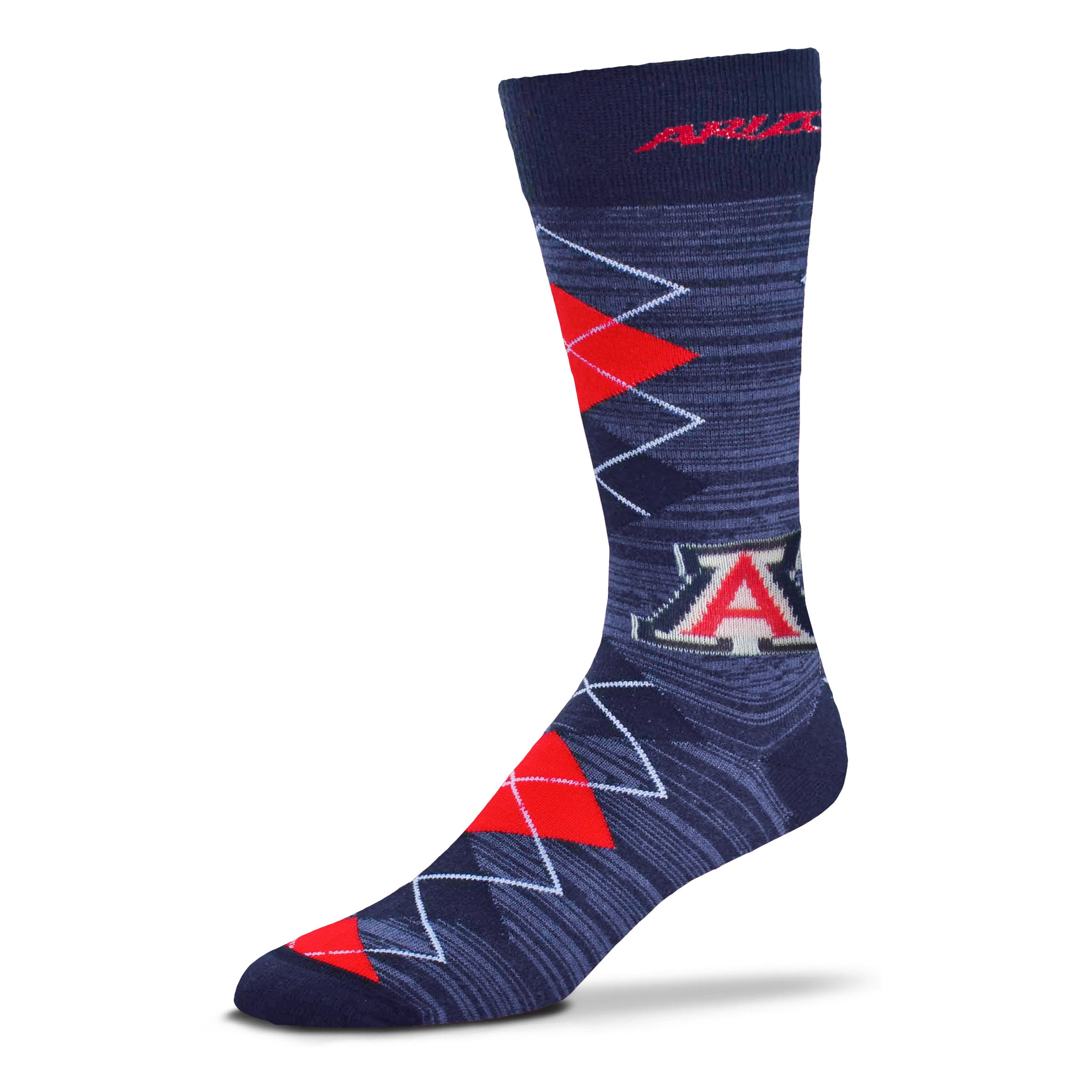 Cover Image For Socks: Arizona Wildcats Fan Nation Argyle Crew Socks