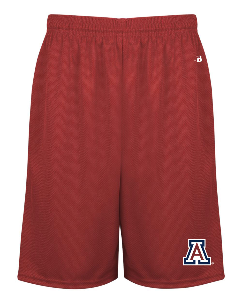 Image For Badger Sport: Arizona Money Mesh Pocketed Short-Red