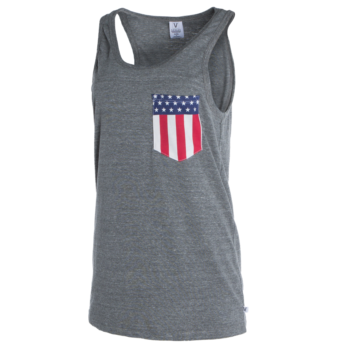 Cover Image For Venley: Arizona  Women's Tyger Americana Pocket Tank-Grey