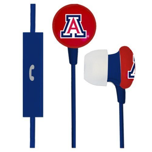 Image For Audio Spice: Arizona Team Logo Earbuds Plus Mic