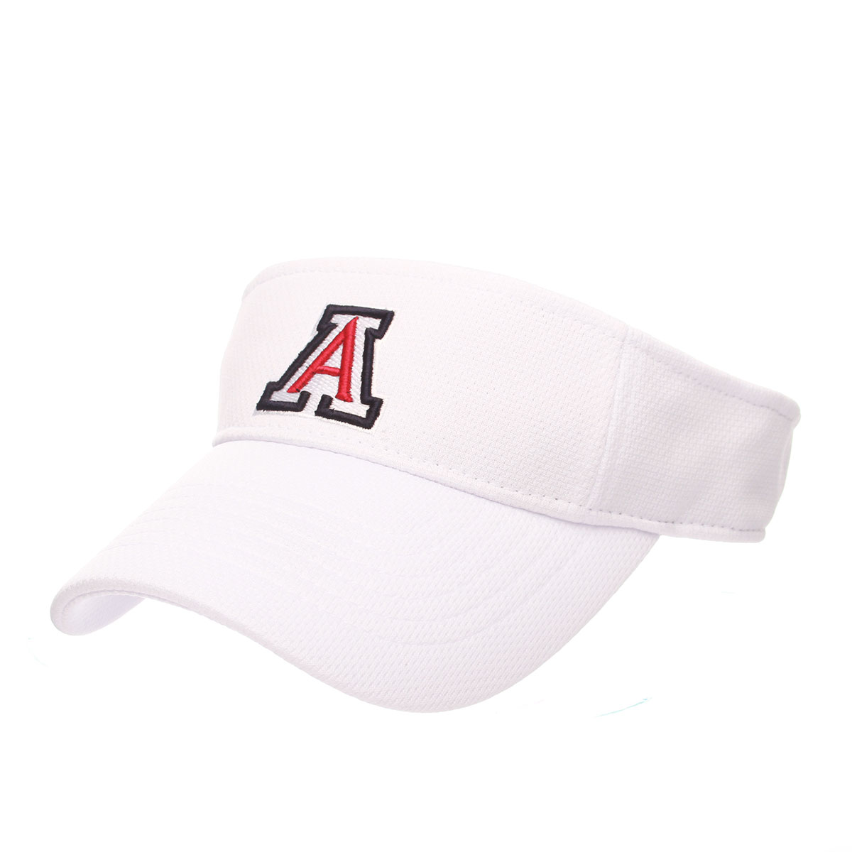 24778d42164 Arizona Team Logo Authentic White Visor By Zephyr