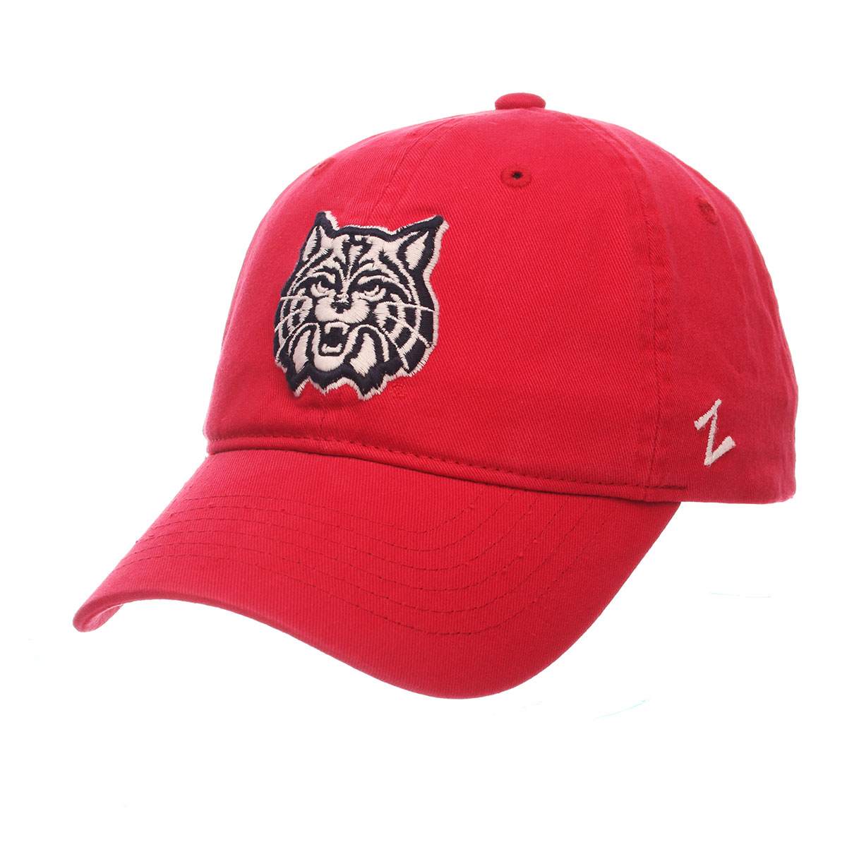 Image For Zephyr: Arizona Wildcat Face Scholarship Cap-Red