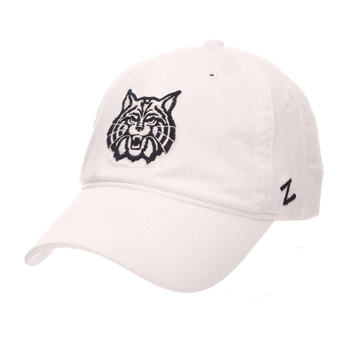 Image For Zephyr: Arizona Wildcat Face Scholarship Cap-White