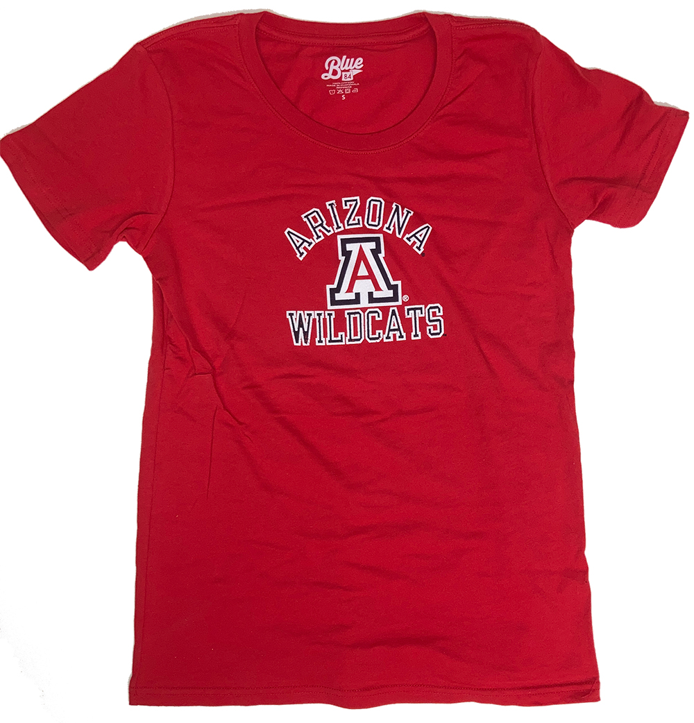 Cover Image For Blue 84: Arizona Wildcats Dark Confetti V-Neck-Red