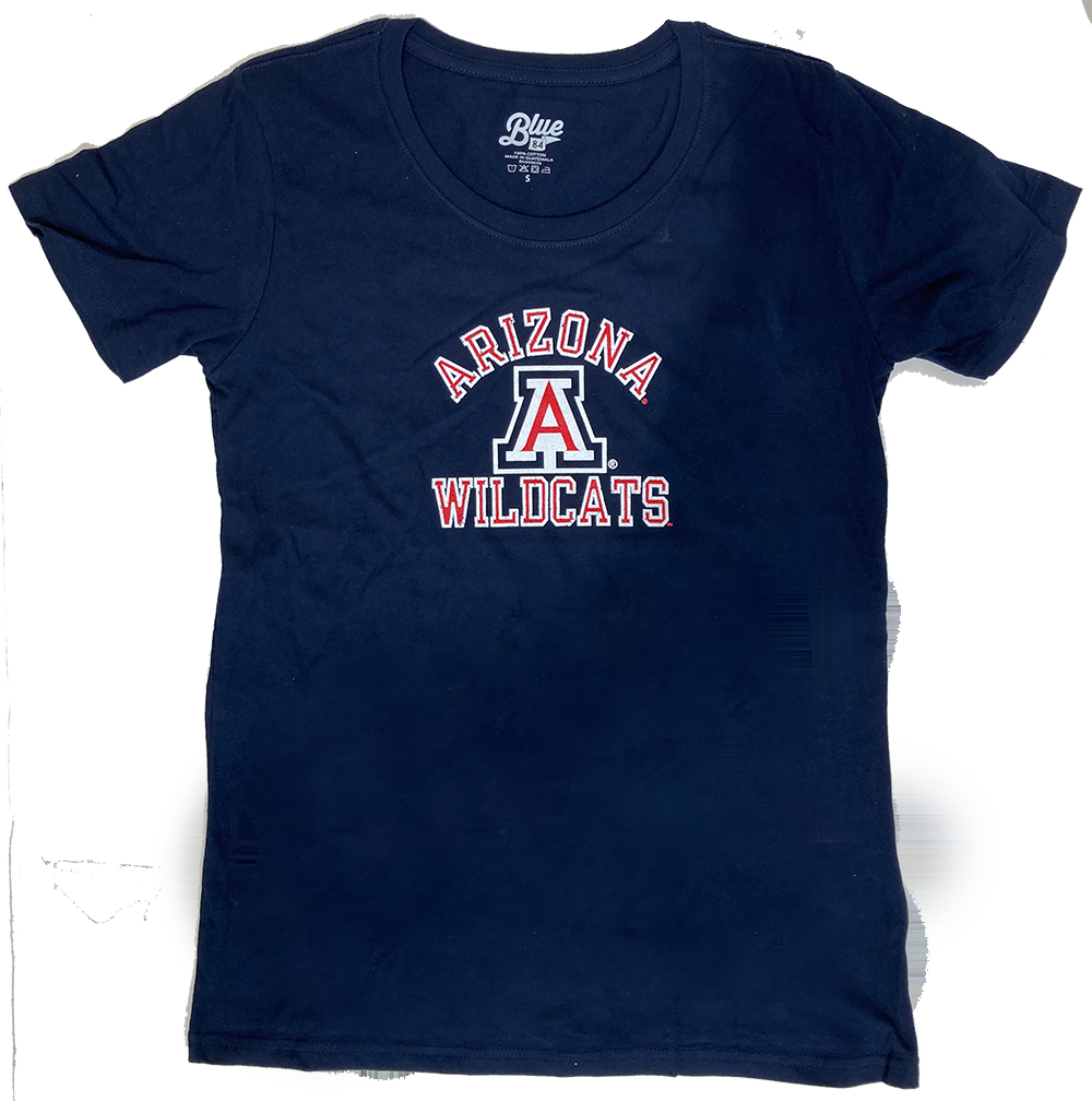 Image For Blue 84: Arizona Wildcats Dark Confetti V-Neck-Navy