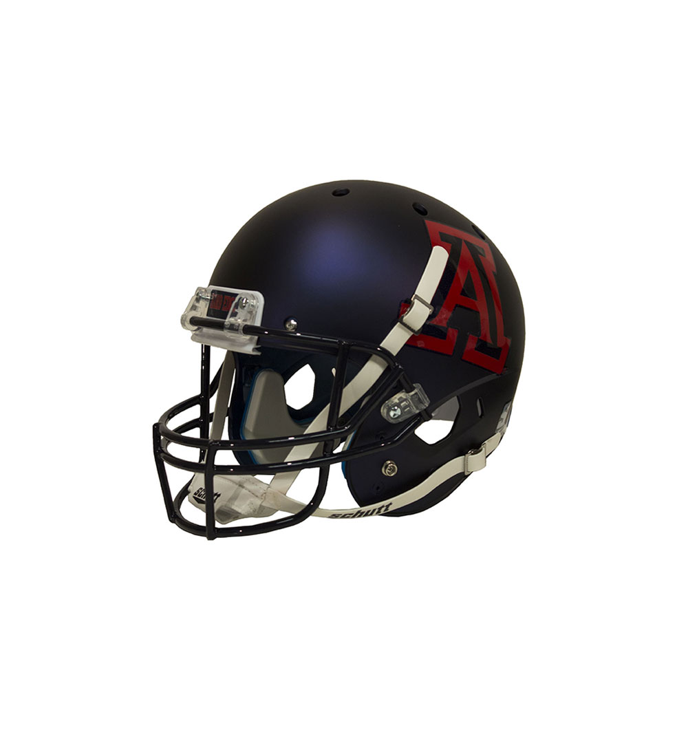 Image For Schutt Authentic Mini Arizona Matte Navy Football Helmet