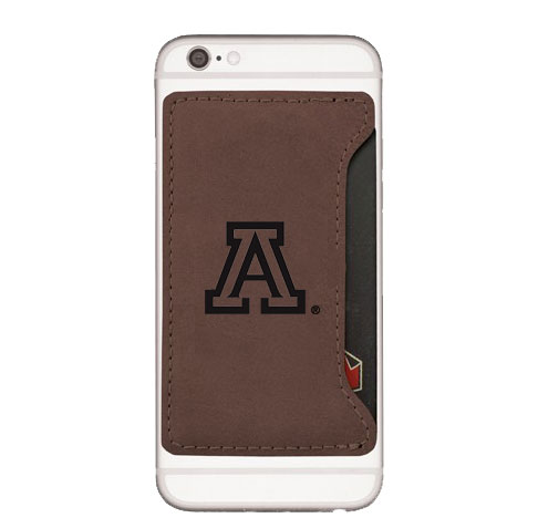 Image For LXG: Arizona Velour Cell Phone Card Holder-Brown
