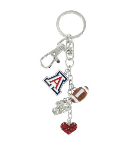 Image For Keychain: Arizona Wildcats Football Combo by RhinestoneU
