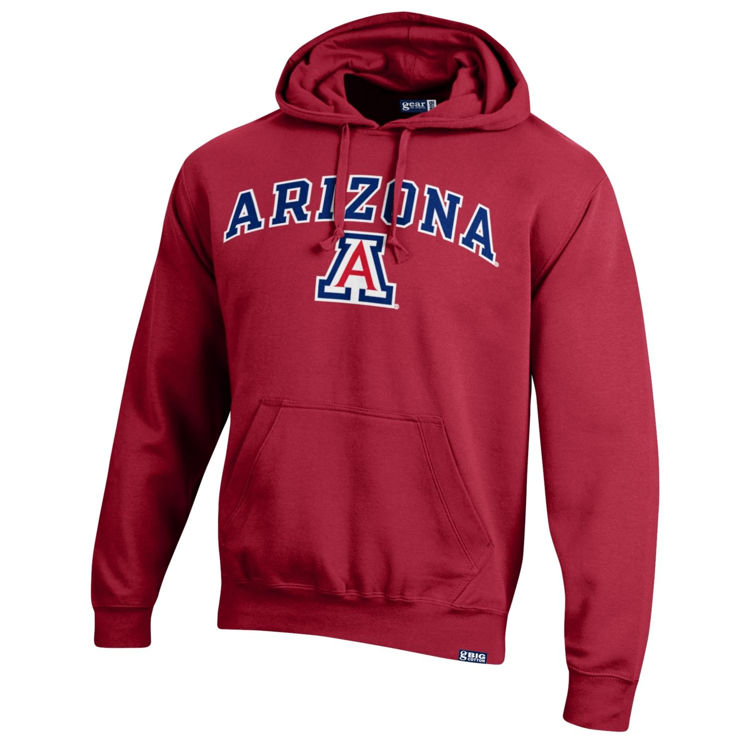 Cover Image For Gear: Arizona Wildcats Arch Logo Big Cotton Hood - Red