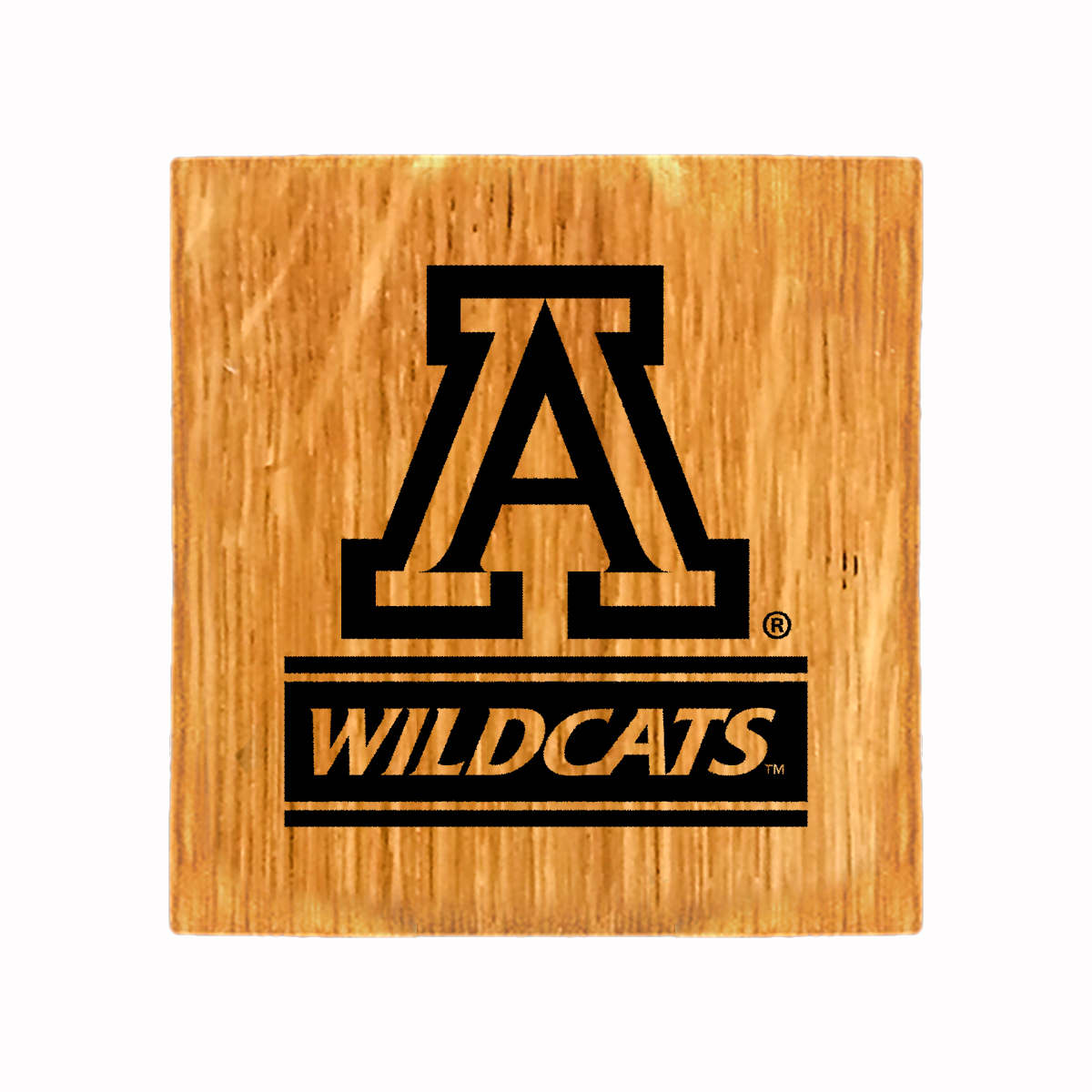 Image For Timeless Etchings: Arizona Team Logo Wildcats Coaster Set