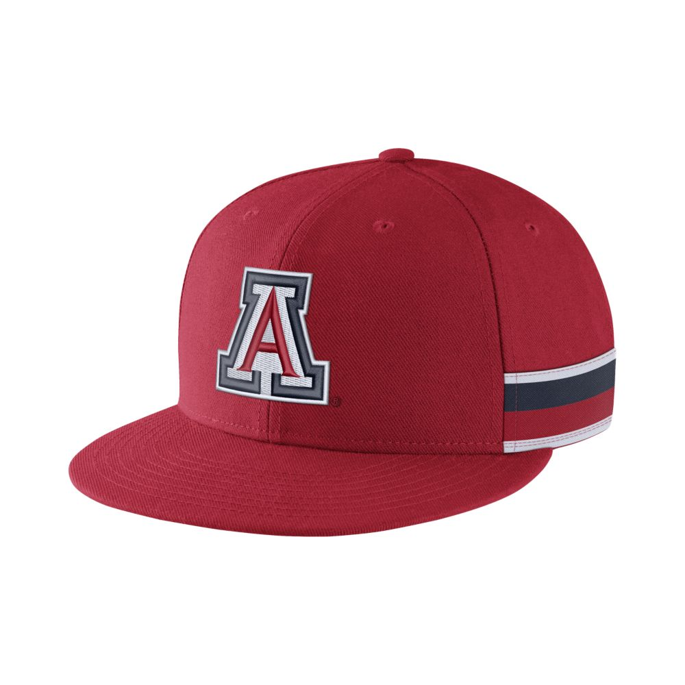 Image For Nike: Arizona Wildcats True Woven Stripe Snapback-Red