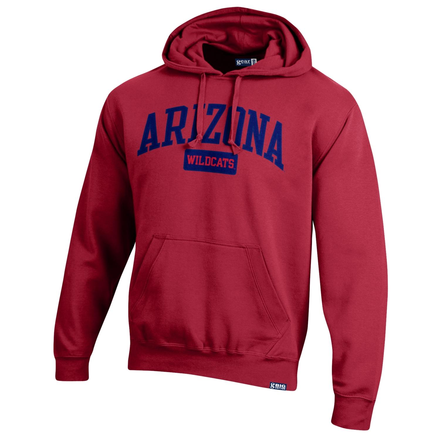 Cover Image For Gear: Arizona Wildcats Big Cotton Hoodie-Red