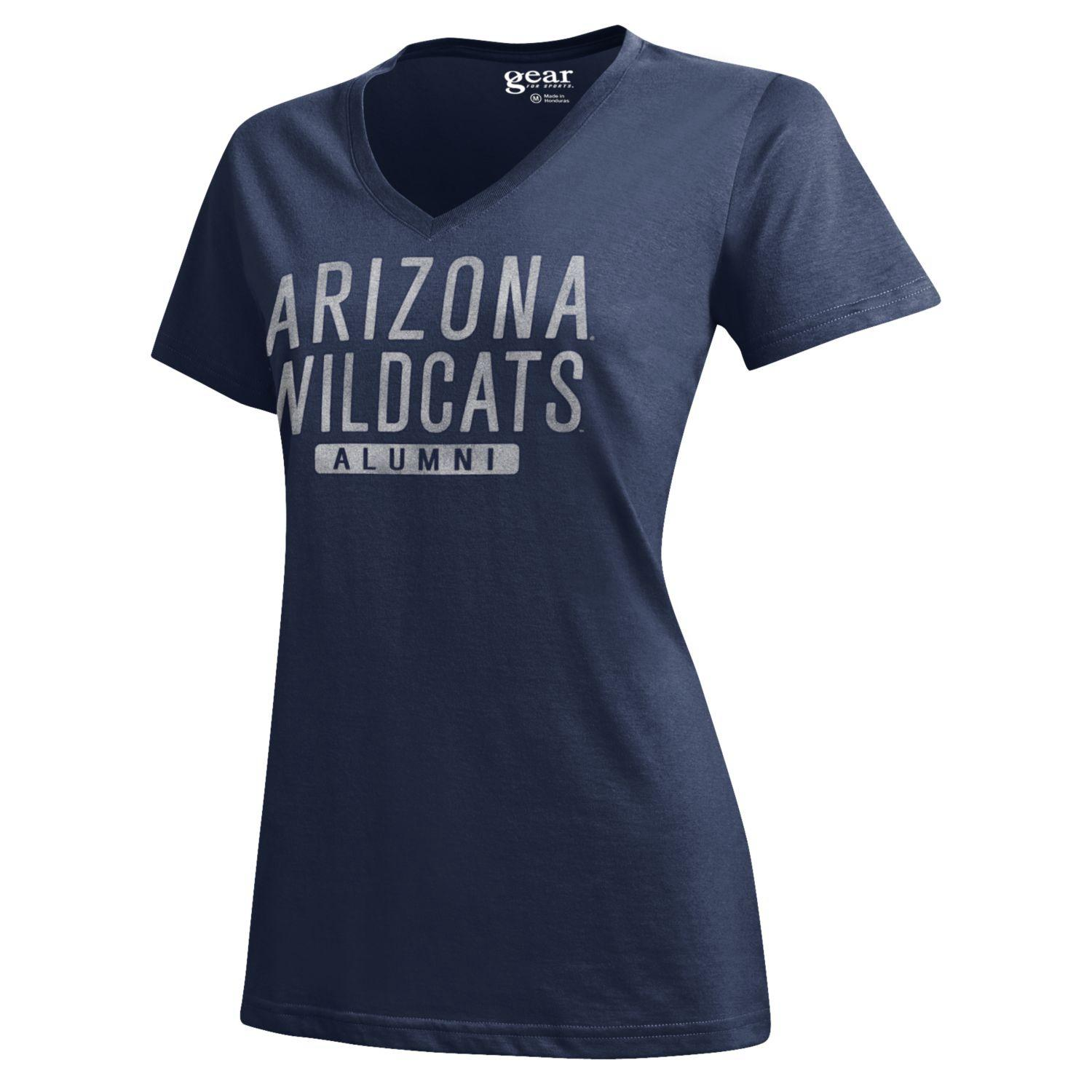 Image For Gear: Arizona Wildcats Alumni Mia V-Neck Tee-Navy