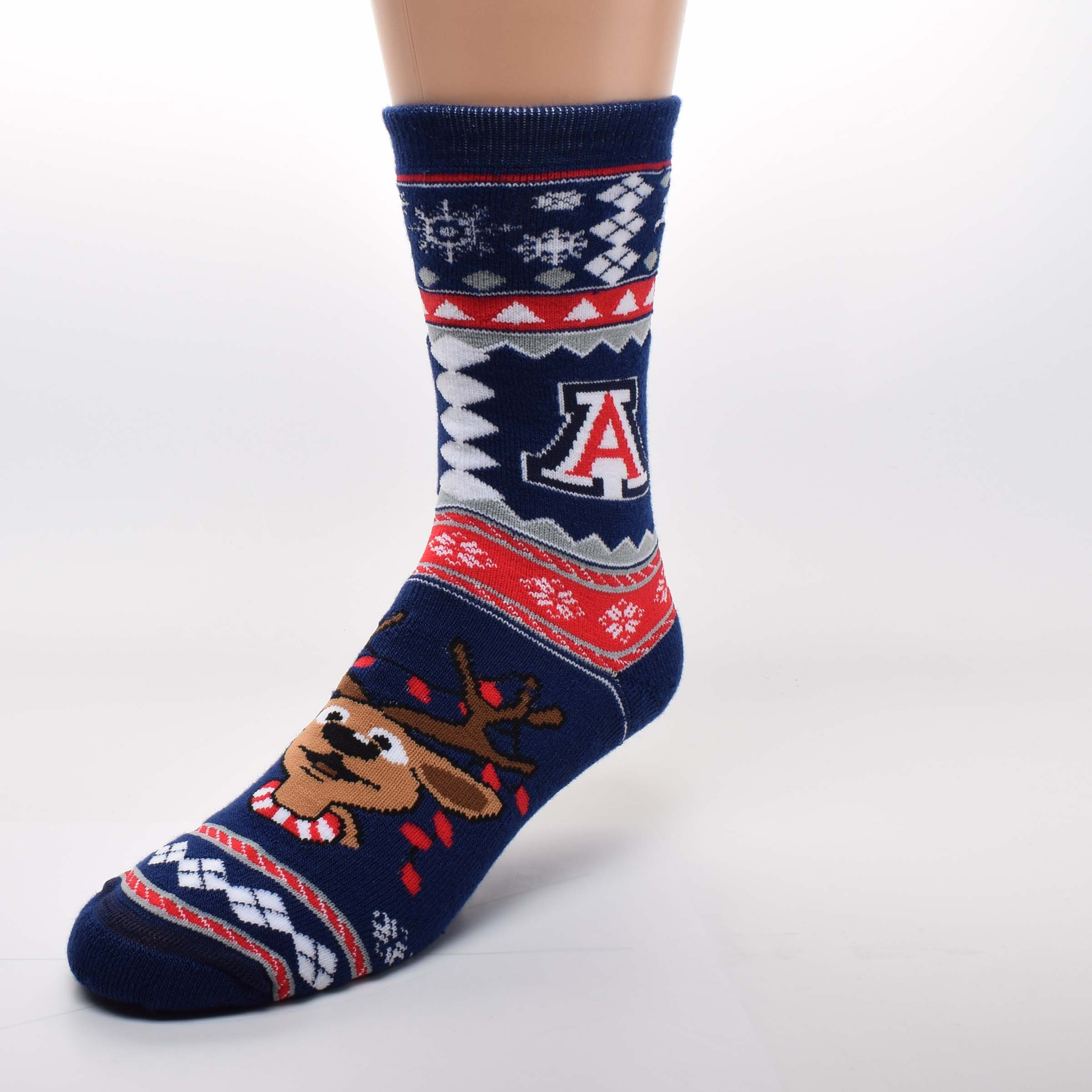 Image For Socks: Arizona Ugly Holiday Sweater Crew Socks by FBF