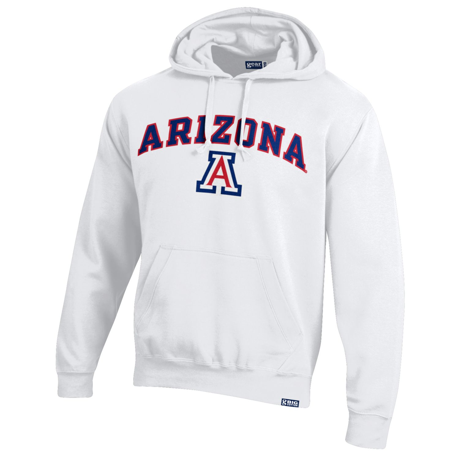 Image For Gear: Arizona Wildcats Arch Logo Big Cotton Hood - White