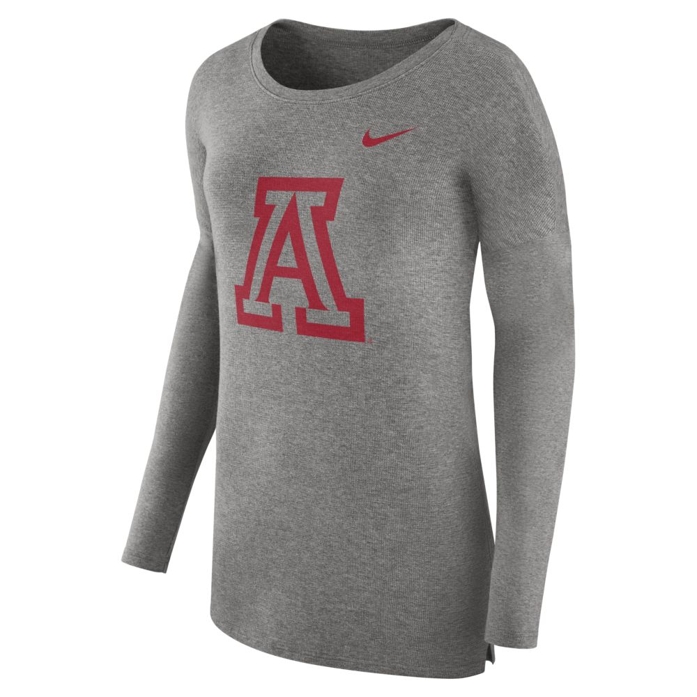 Image For Nike: Arizona Wildats Micro French Cozy Long Sleeve-Grey