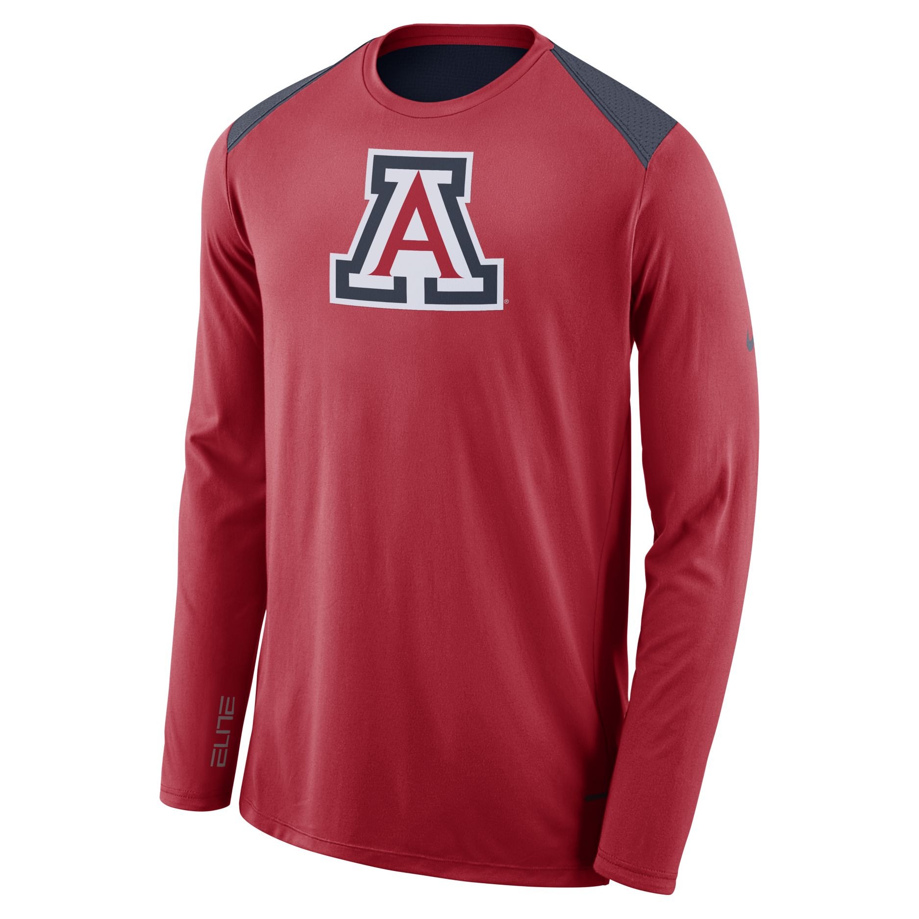 Image For Nike: Arizona Basketball ELITE Shooter Long Sleeve-Red/Navy