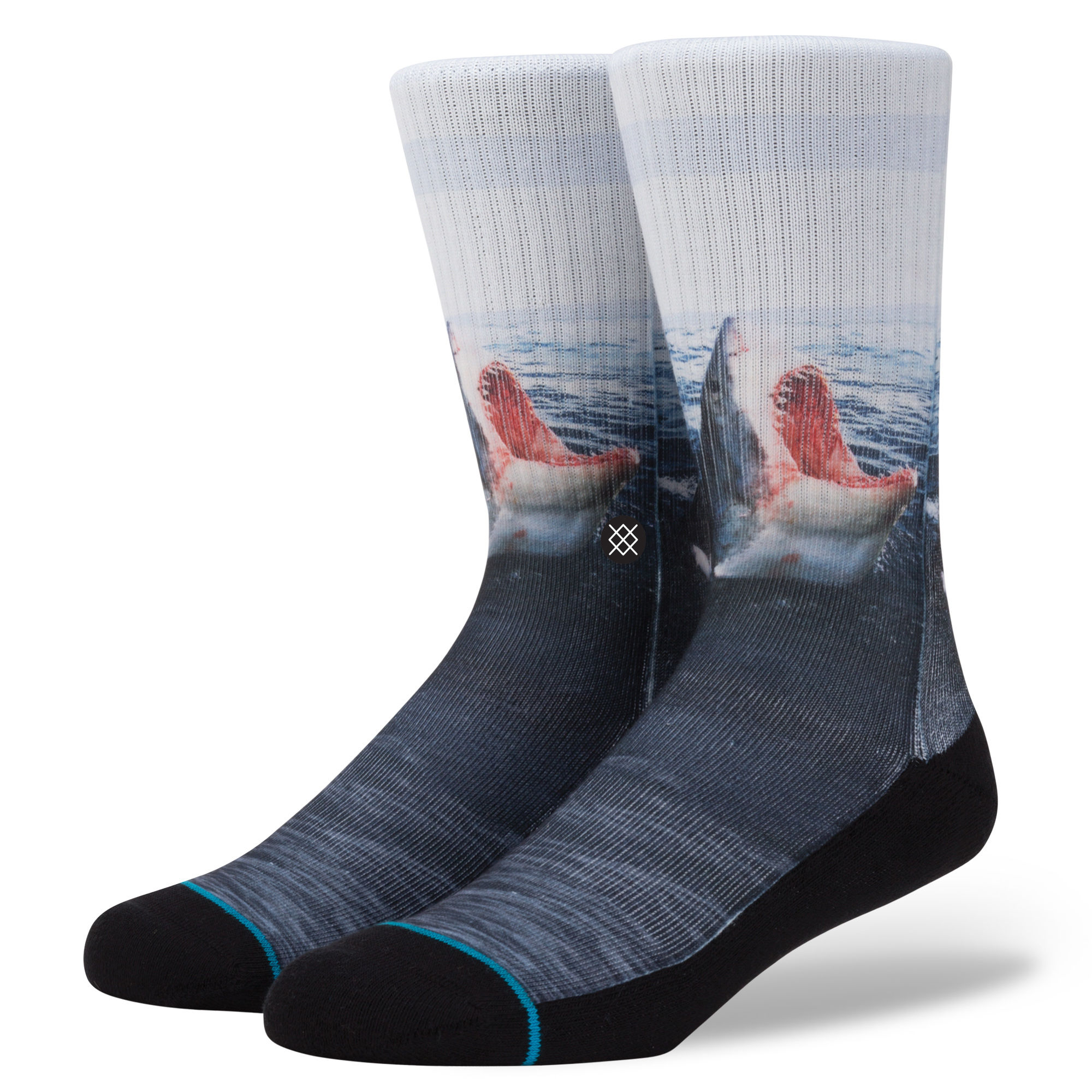 Image For Stance: Lanlord Shark Blue Classic Crew Sock