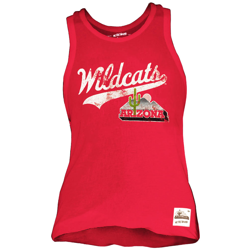 Image For Retro Brand: Aarizona Wildcats Relaxed Tank-Red