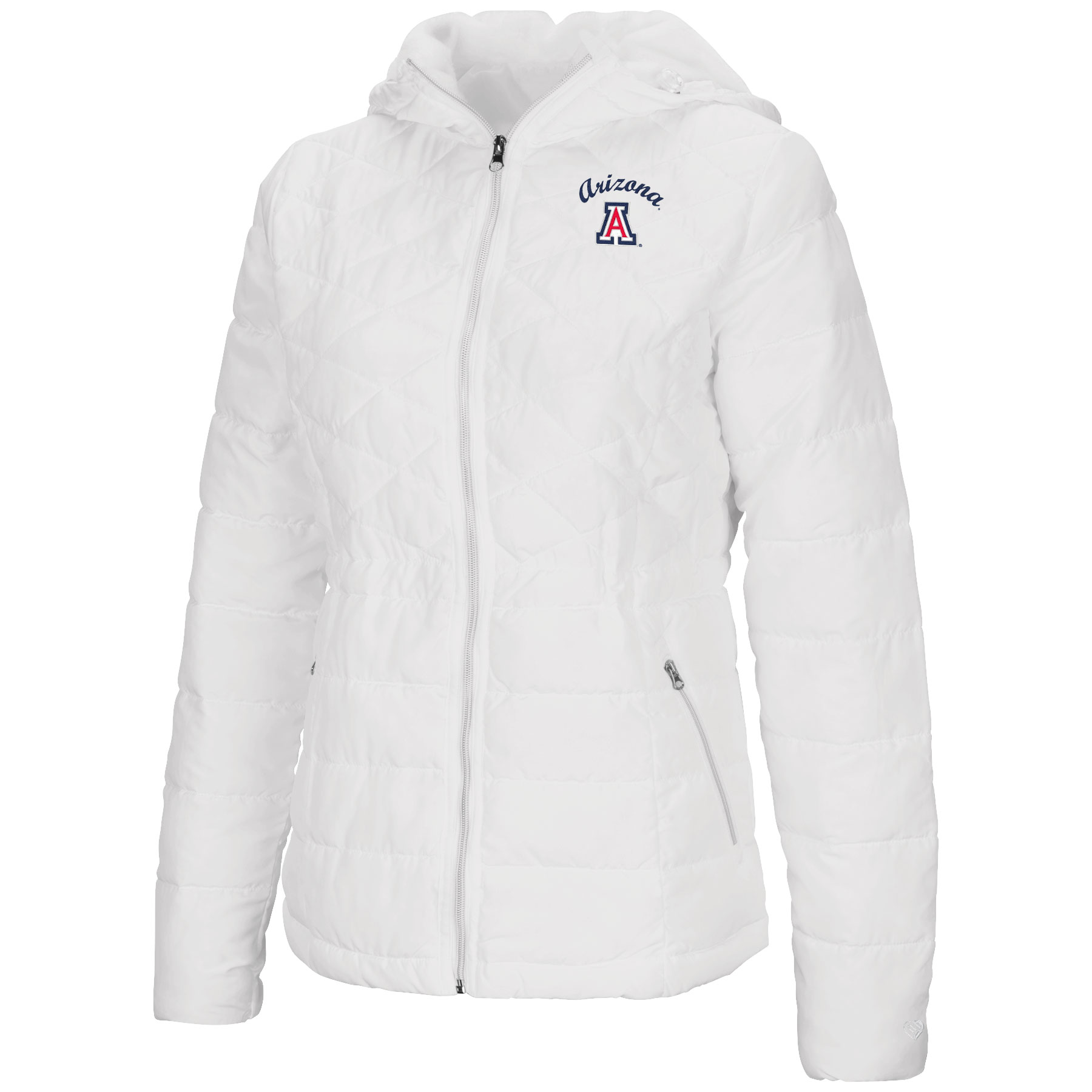 Cover Image For Colosseum: Arizona Women's As You Wish Puffer Jacket-White
