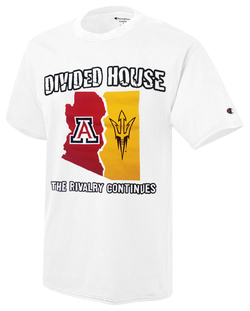 Champion  Arizona Divided House The Rivalry Continues Tee 951fac206