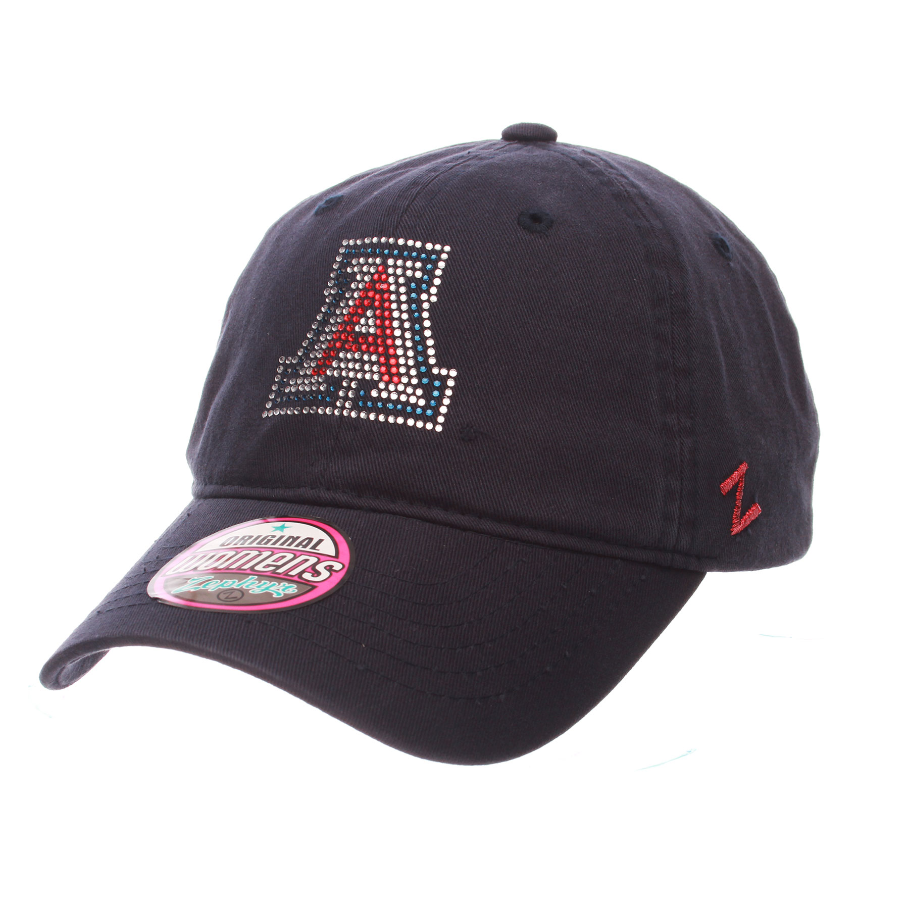 Image For Zephyr: Arizona Bling Logo  Women's Girlfriend Cap - Navy