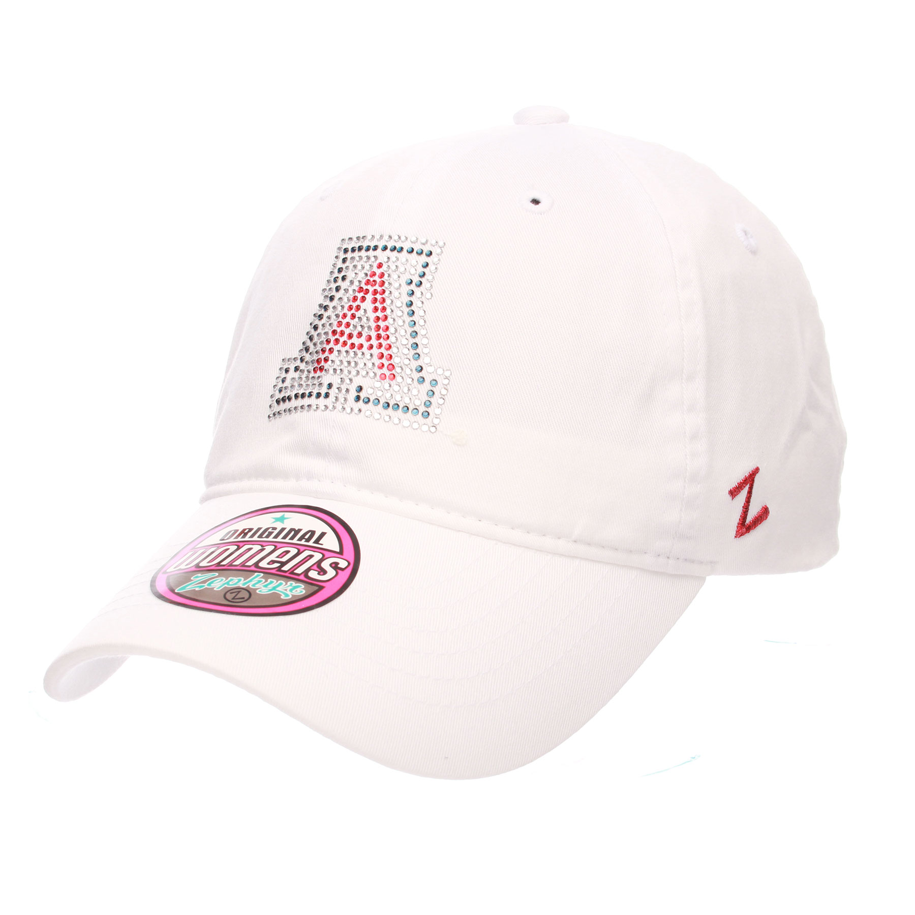 Image For Zephyr: Arizona Bling Logo  Women's Girlfriend Cap - White