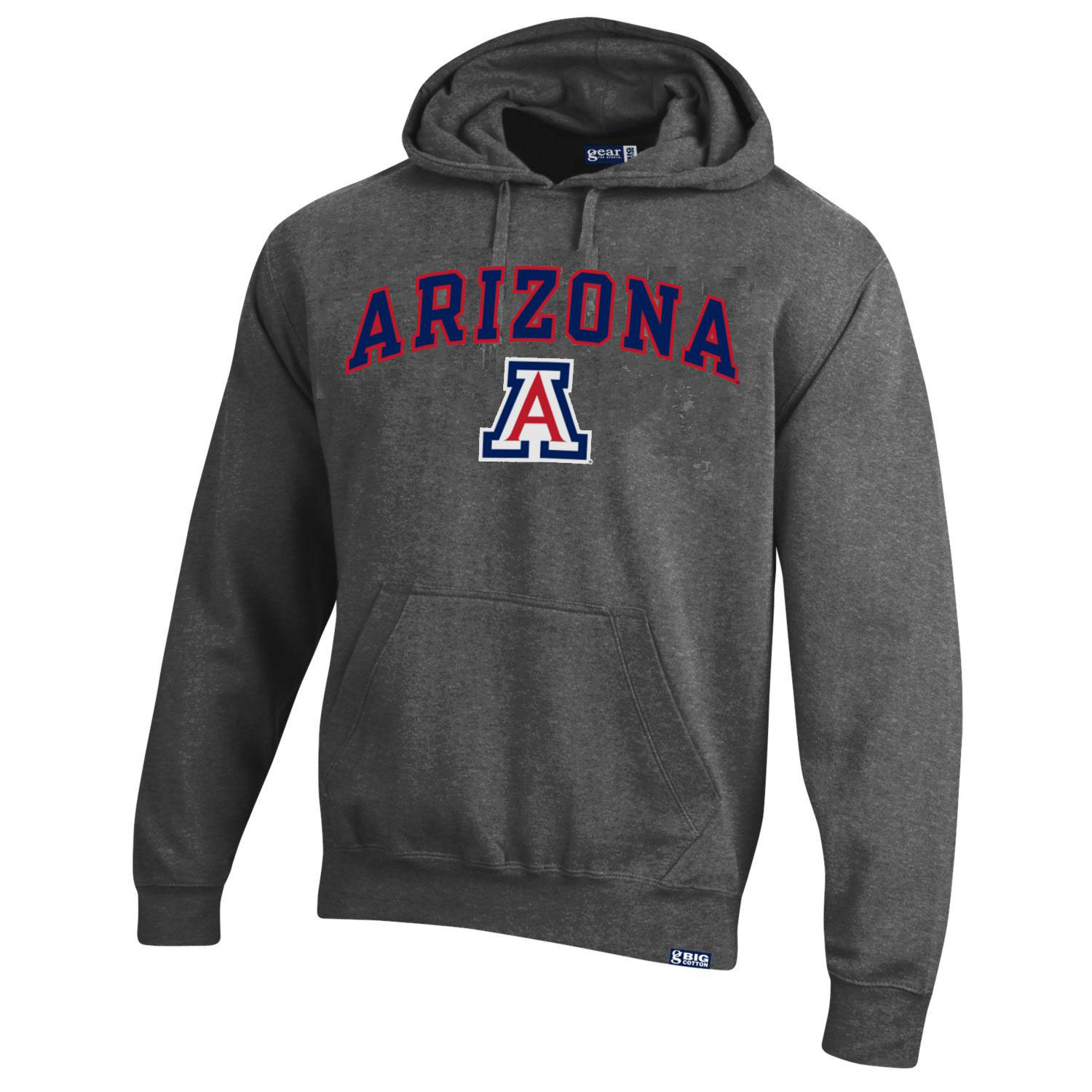 Image For Gear: Arizona Wildcats Arch Logo Big Cotton Hood - Charcoal