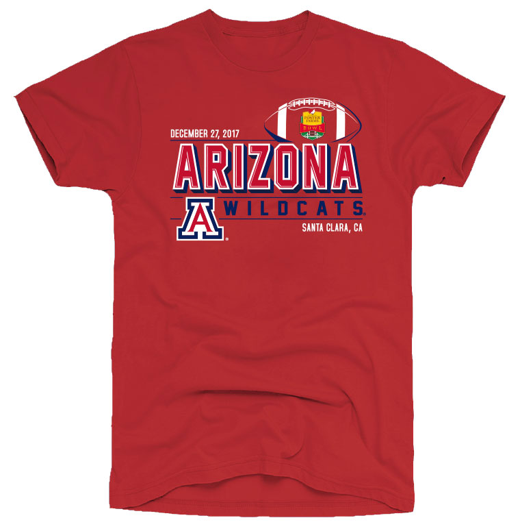 Image For Arizona Wildcats Football 2017 Foster Farms Bowl Youth Tee