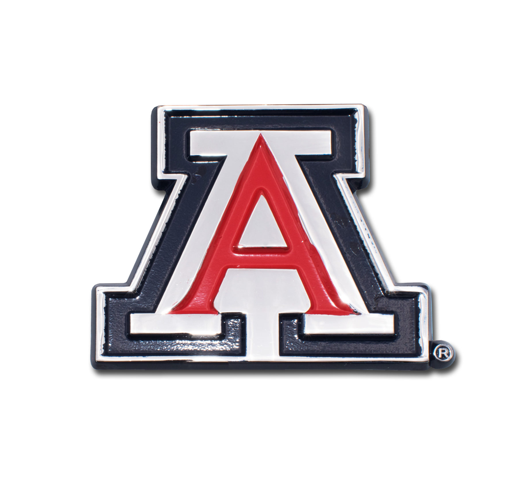 Image For Elektroplate: Arizona Team Logo Chrome Auto Emblem