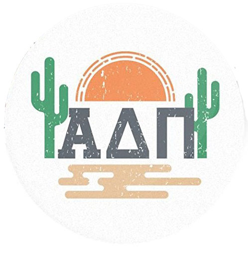 Image For Desert Cactus Sunset Circle Sticker Decal