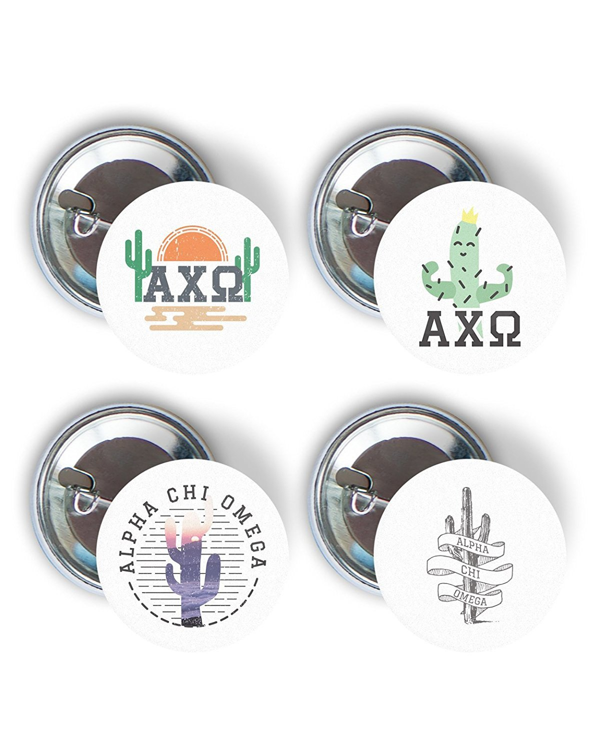Image For Desert Cactus Variety Pack of Buttons 2.25-inch