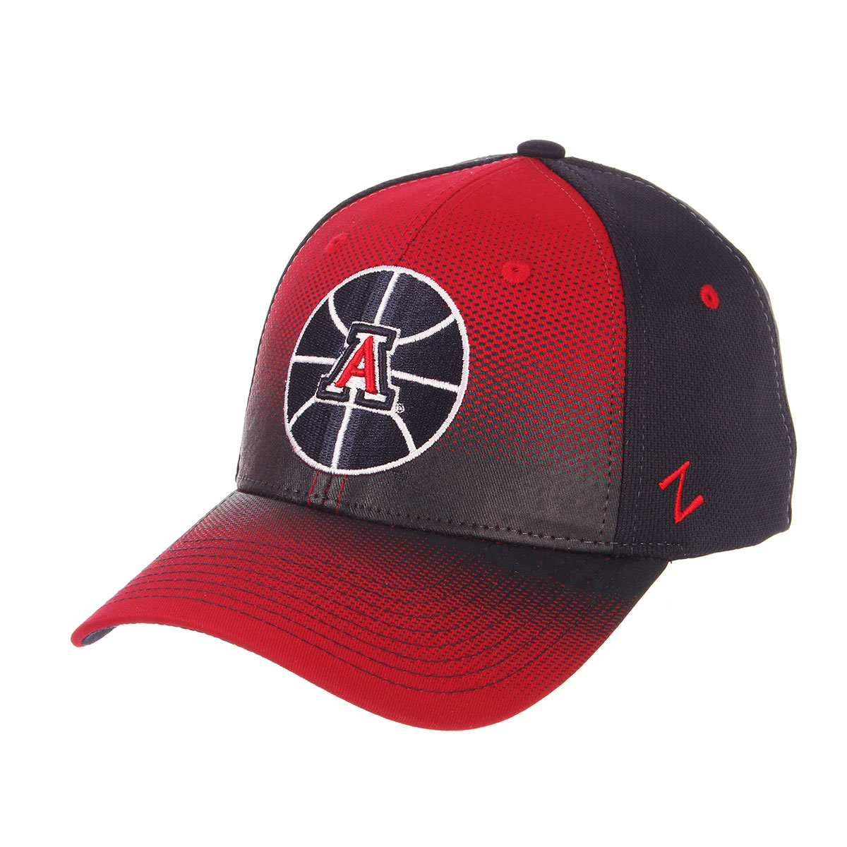 Image For Zephyr Arizona Basketball Stretch Fit Cap