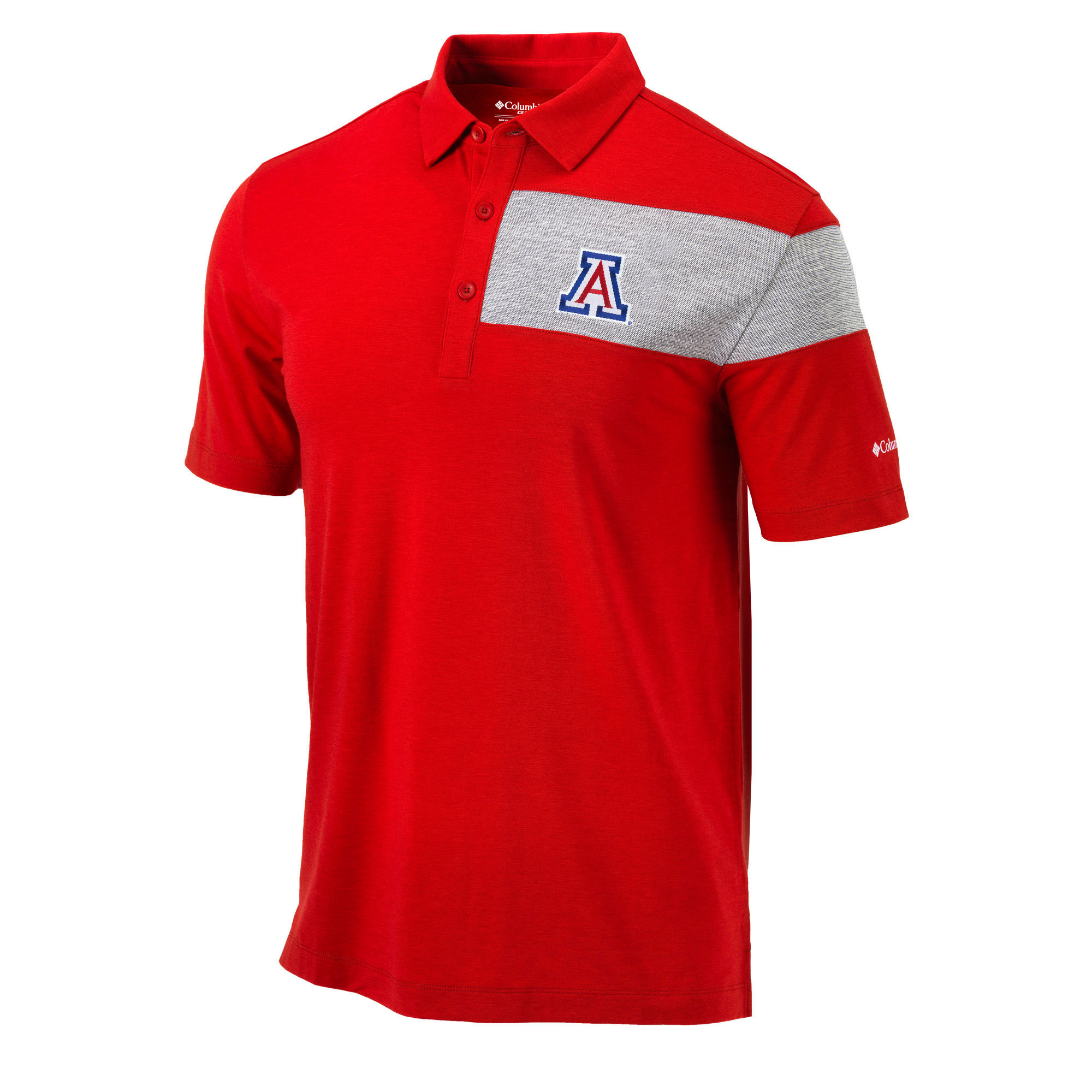Image For Columbia: Arizona Omni-Wick Skins Polo - Red