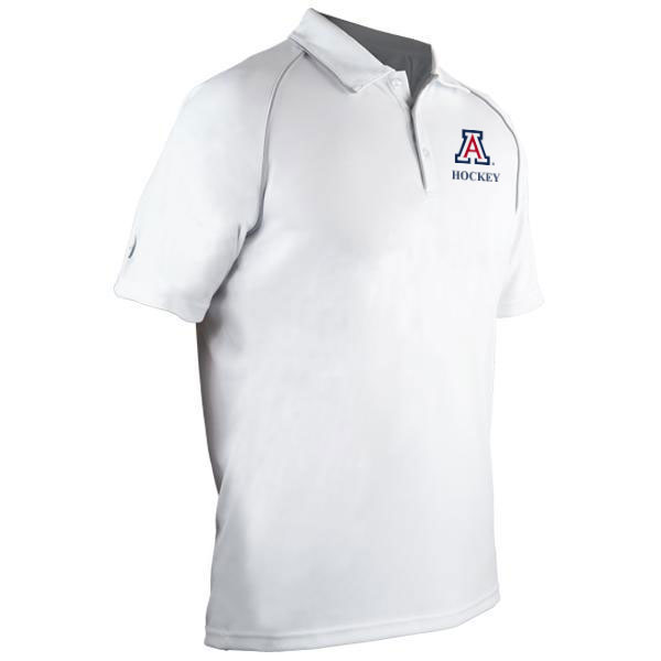 Image For Harrow: Arizona Hockey Men's Exult Polo - White