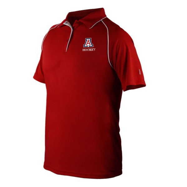 Image For Harrow: Arizona Hockey Men's Exult Polo - Red