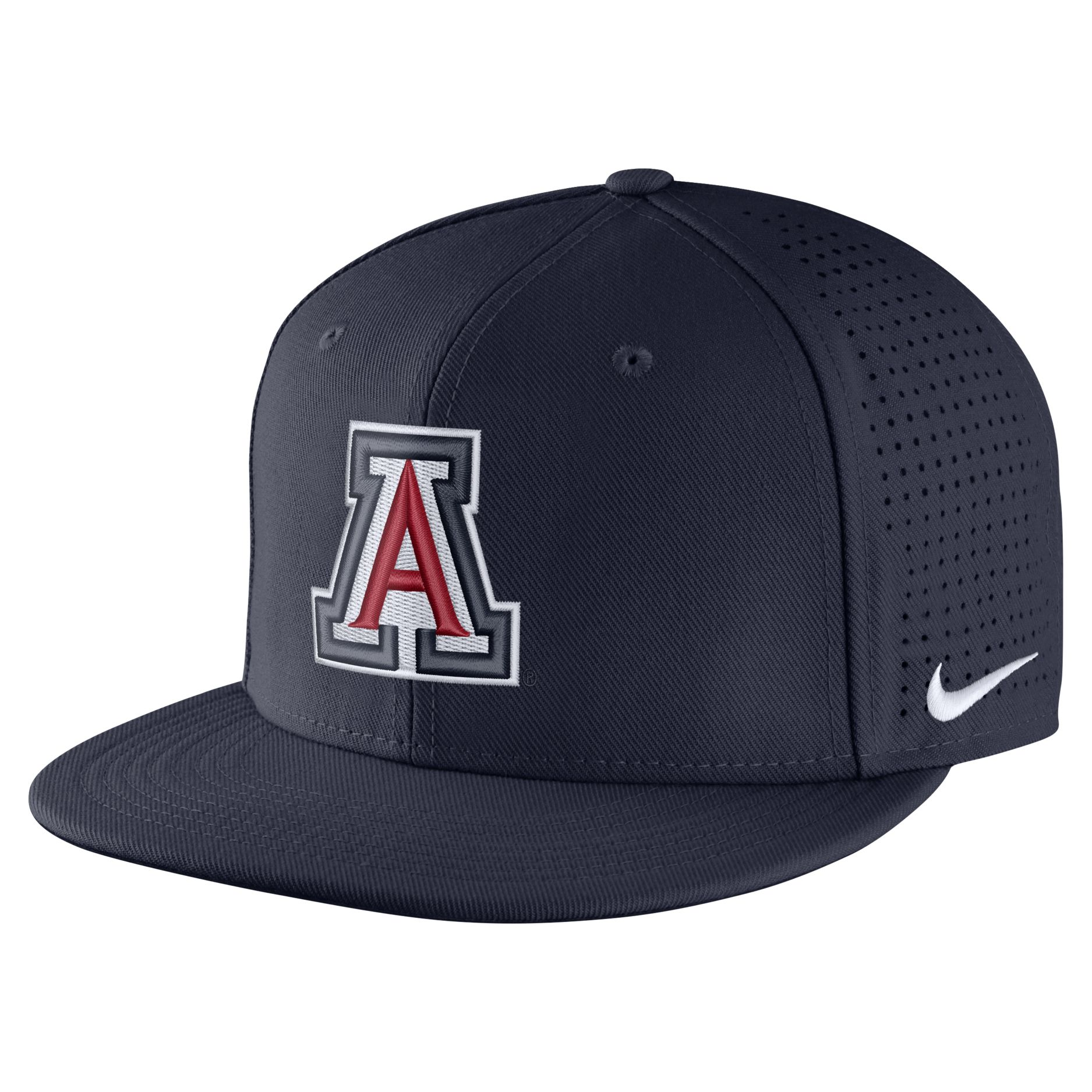 Image For Nike: Arizona Wildcats Aerobill True Fitted Cap - Navy
