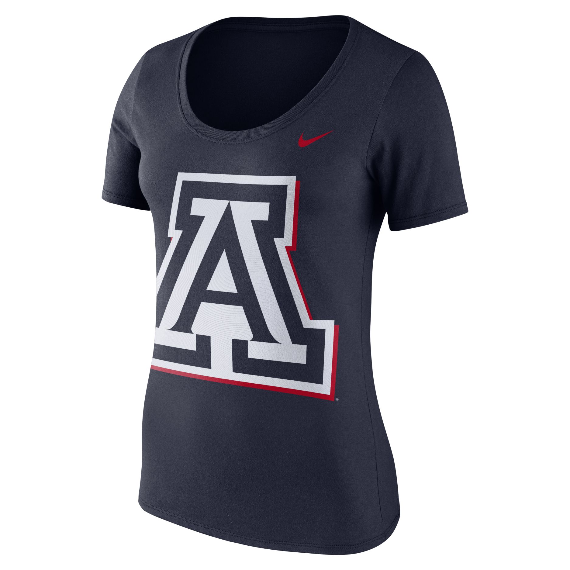 Image For Nike: Aarizona Team Logo Tonal Fluid Force  Scoop Neck-Navy