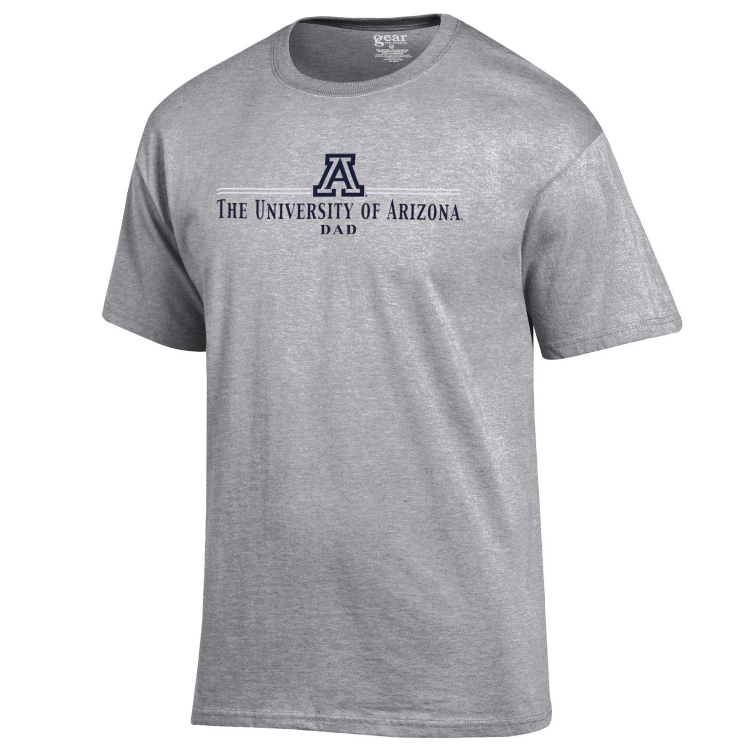 Cover Image For Gear: Univeristy of Arizona Logo Dad - Oxford Heather Grey