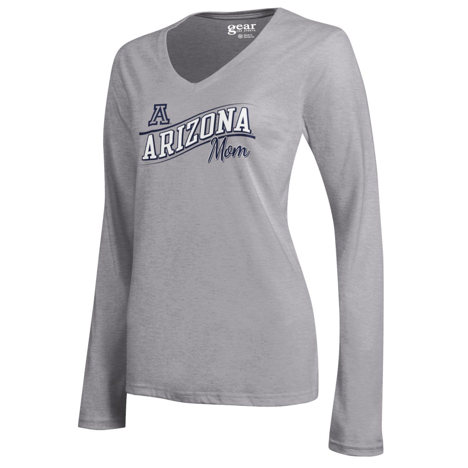 Image For Gear: Arizona Mom Mia V-Neck Long Sleeve Tee - Grey Heather