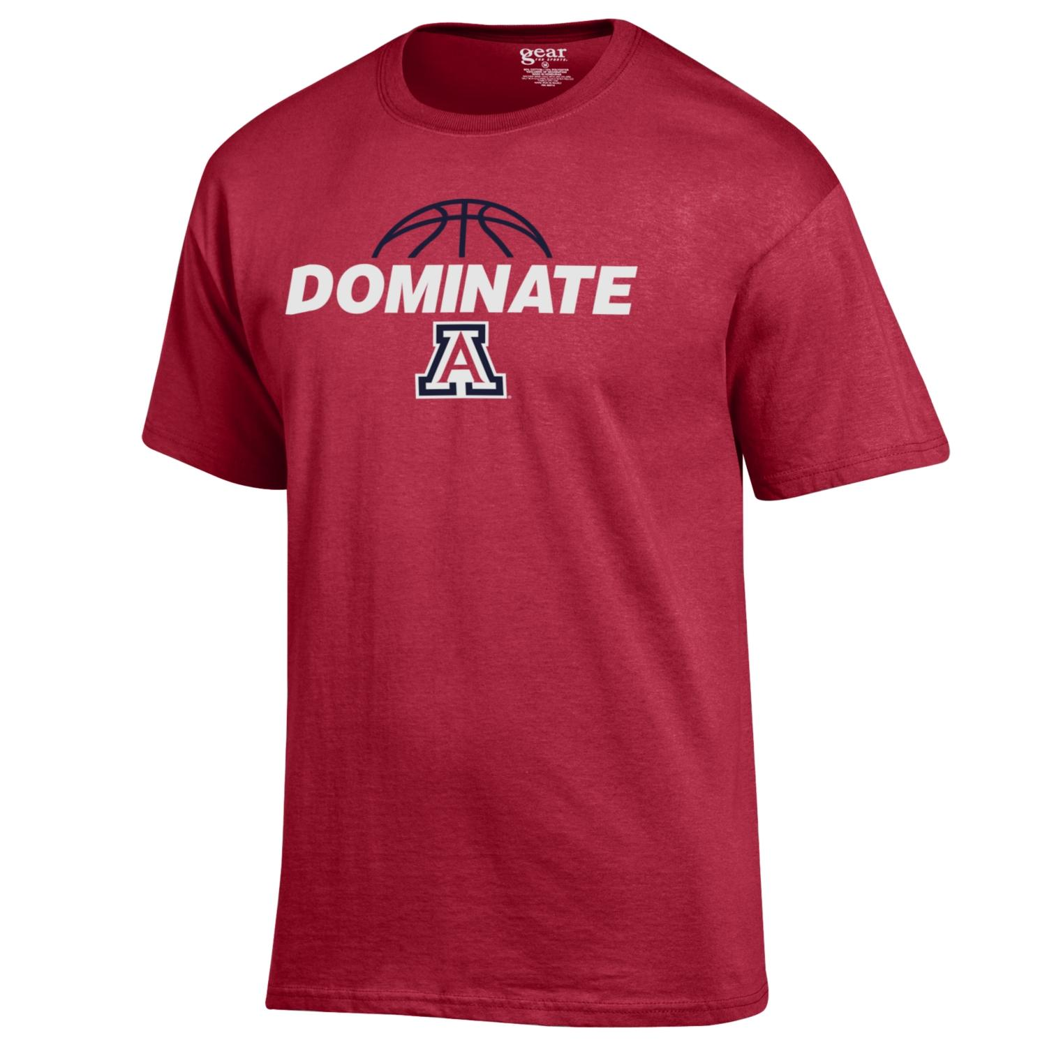 Image For Gear: Arizona Basketball DOMINATE Basic Tee - Red