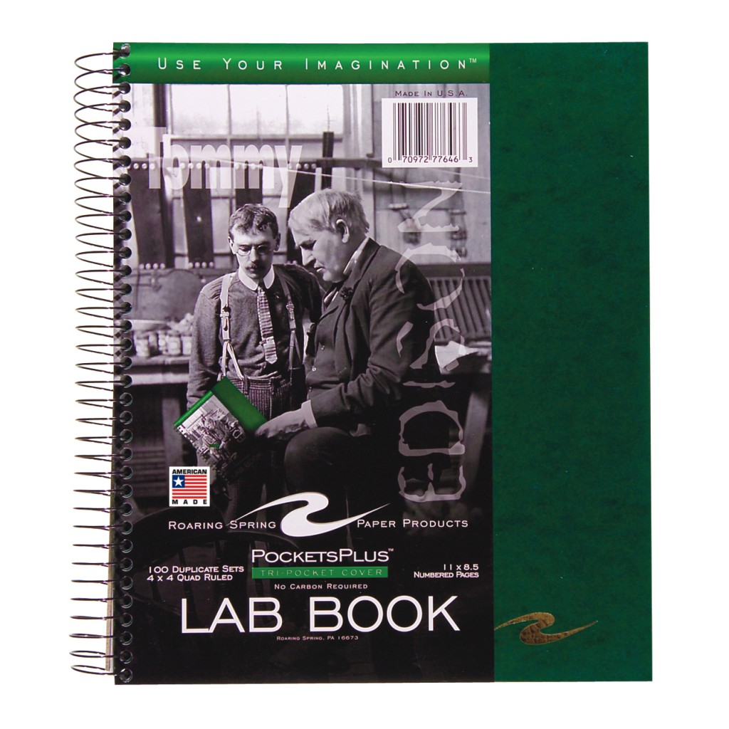 Cover Image For Roaring Spring: Lab Book Carbonless Sidebound
