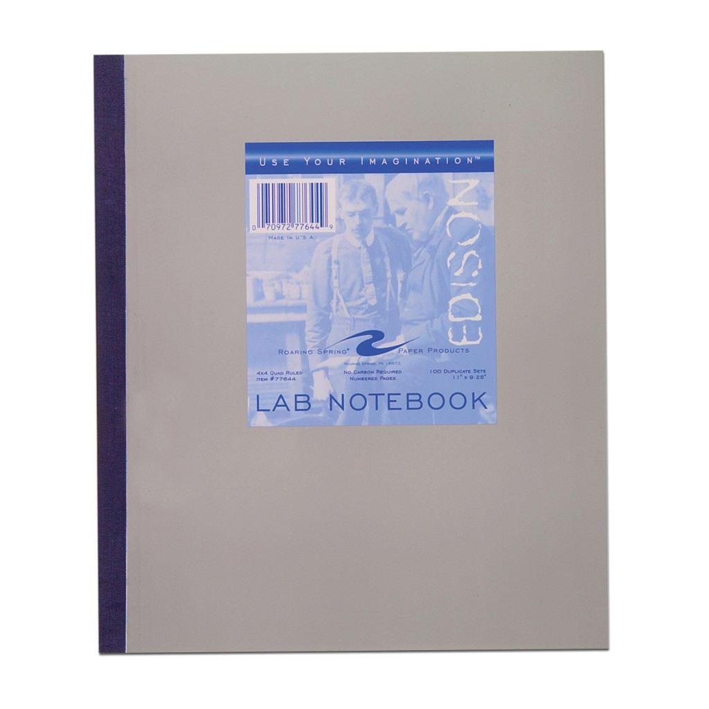Image For EDISON Lab Notebook 100 Carbonless Sheets