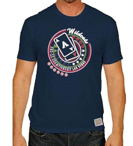 Image For 2018 PAC-12 Tournament Arizona Wildcats Las Vegas Tee - Navy
