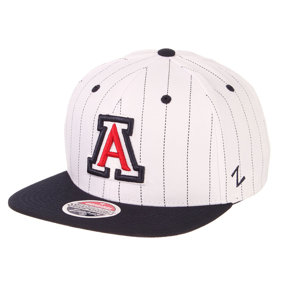 Image For HAT OF THE MONTH: Zephyr Arizona Pinstripe Snapback - White