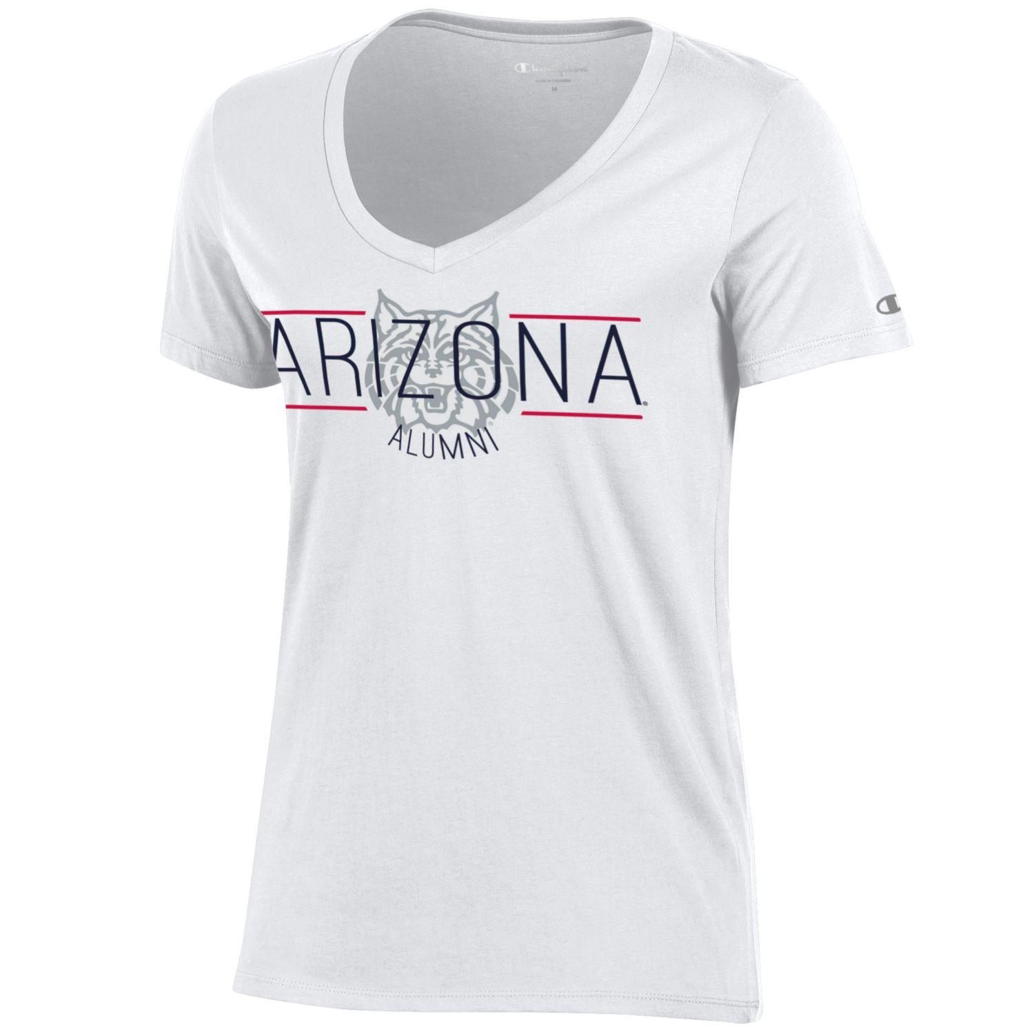 Image For Champion: Arizona Alumni University V-Neck Tee - White