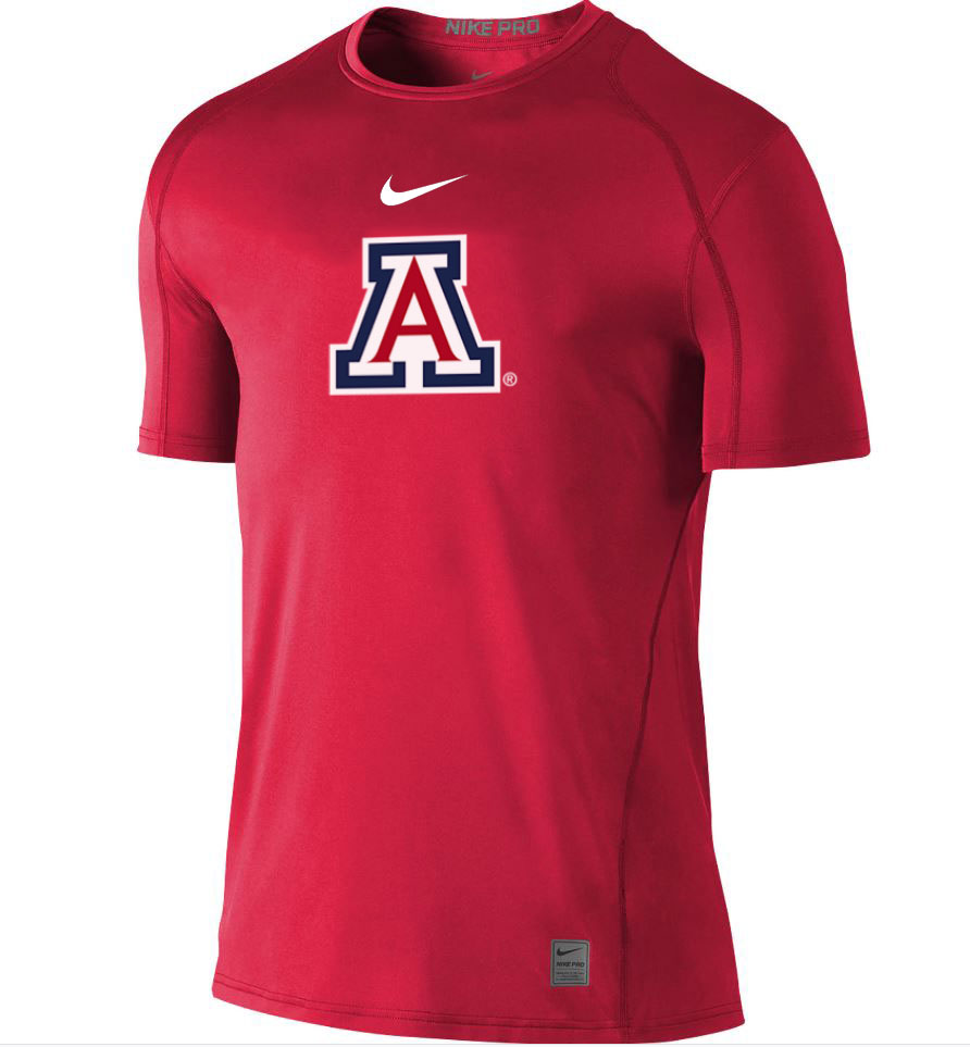 Image For Nike: Arizona Team Logo Pro Cool Fitted Tee - Red
