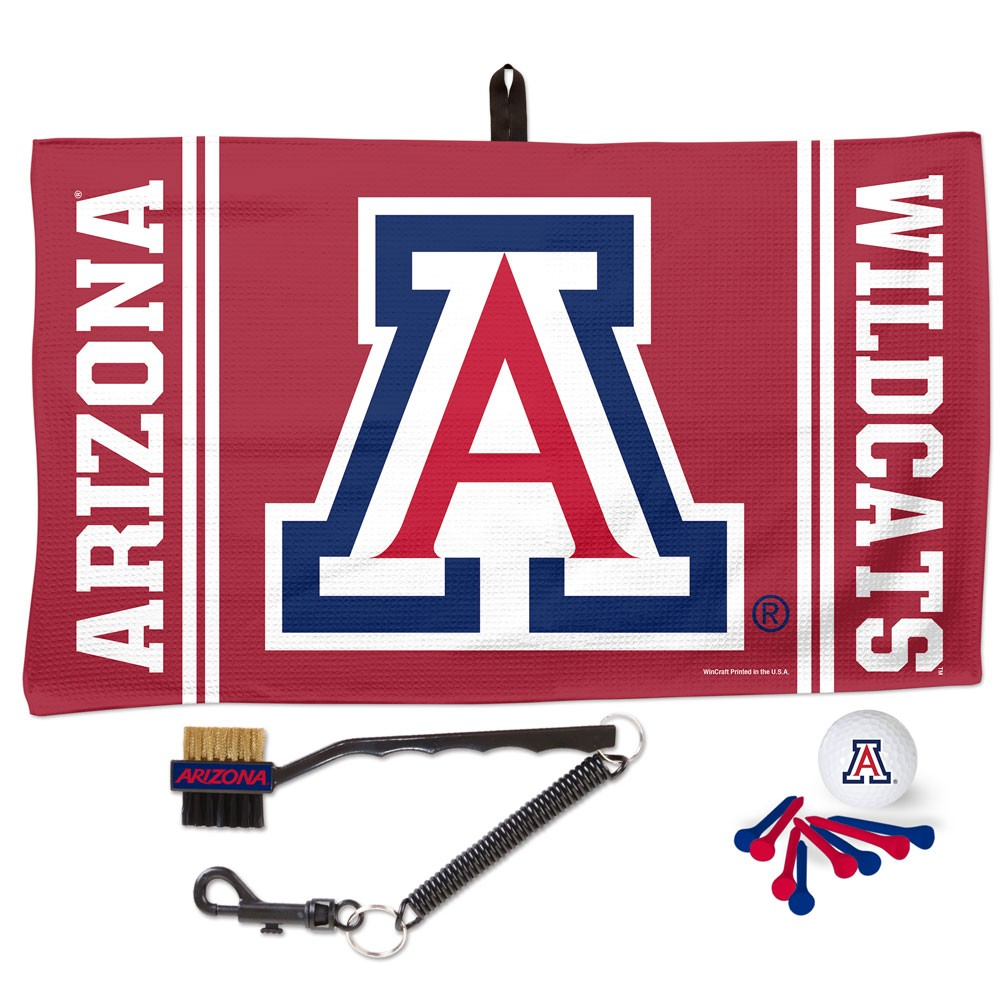 Image For WinCraft: Arizona Wildcats Waffle Towel Golf Gift Set