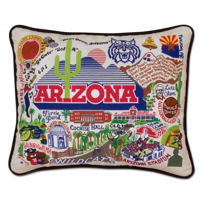 Cover Image For Catstudio:  Arizona, Univ of Collegiate Embroidered Pillow