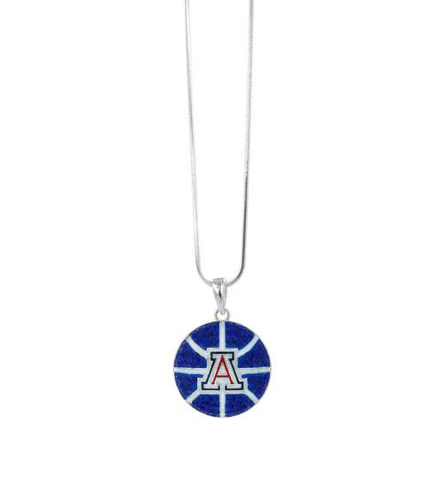 Image For RhinestoneU: Arizona Crystal Basketball Pendant Necklace